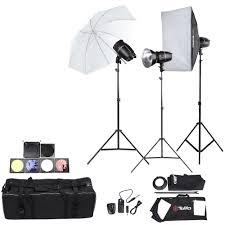 tolifo professional photography photo studio sdlite lighting lamp kit set with 3 180w