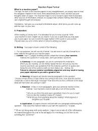 Reaction Paper Format Citation Writing