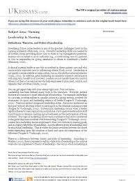 nursing essays leadership in nursing transformational  nursing essays leadership in nursing transformational leadership leadership