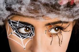 spider eyes spide web eyes makeup tutorial