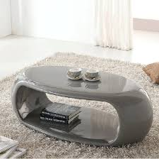 grey high gloss coffee table vista high gloss coffee table straas curved