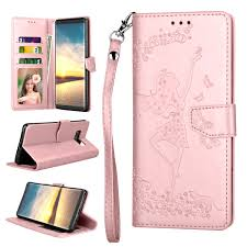 galaxy note 8 case note 8 wallet case note 8 pu leather case njjex pu leather wallet case kickstand feature with id card holder slot wrist strap for