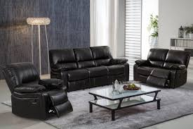 Living In Style Layla Piece Leather Gel Reclining Living Room
