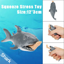 hot 12cm funny sea life toy shark squeeze stress ball alternative humorous light hearted kids