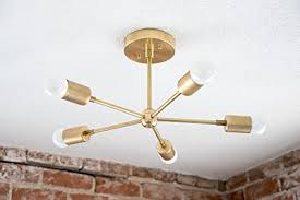 gold sputnik chandelier. Handmade 5 Arm Brass Gold Sputnik Style Mid Century Modern Inspired Starburst Chandelier UL Listed