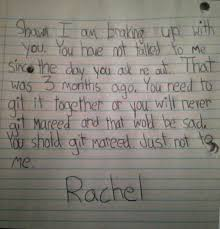 Git It Together Shaun Little Girl S Break Up Letter Imgur