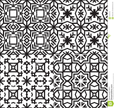 Textile Patterns Fascinating Black And White Textile Patterns Set Stock Vector Illustration Of