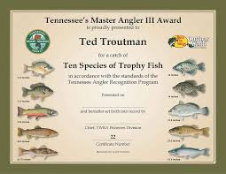 Tennessee Angler Recognition Program