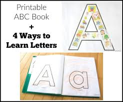 printable abc book and pre learning activities for learning the alphabet includes free printables