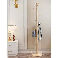 Coat Rack Wooden Beauteous Amazon COAT RACK Wooden Free Standing Coat Hook Wooden And