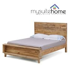Solid Timber Bedroom Furniture Portland Brand New Recycled Solid Pine Rustic Timber Queen Size