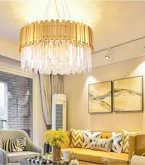 2018 villa hotel chandelier energy saving led light source k9 crystal and stainless steel electric s gold mirror without led bulb wall switch from xiong1972
