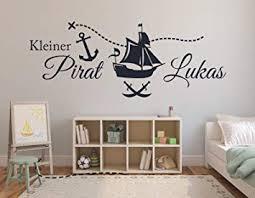 Superior Tjapalo® S Pkm69 Wandtattoo Mit Namen Wandtatoo Kinderzimmer Junge Baby  Piratenschiff Kleiner Pirat Wandsticker