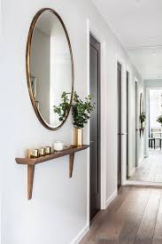 full length mirrored hallway illusion wall