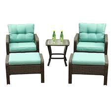 5 pcs wicker patio furniture set