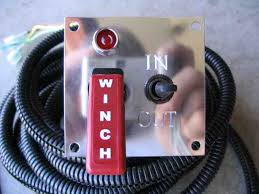 in cab winch remote control 1 a close up of the control panel the led above the red switch illuminates when the switch is turned on after that it is just a matter of selecting in or
