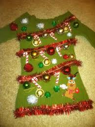 Your Big Collection Of Outrageously Ugly DIY Christmas Sweater Ugly Christmas Sweater Craft Ideas
