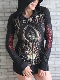 avenged sevenfold metal rock diy slim fit hoo top