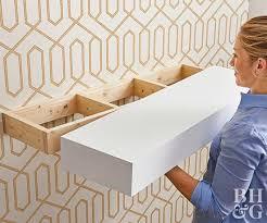 diy floating shelves final install