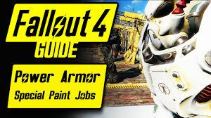 fallout 4 power armor special unique paint jobs guide overview fallout 4 power armor special unique paint jobs guide overview