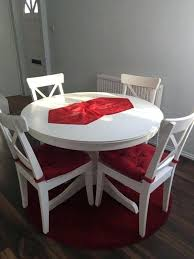 white round dining table with 4 chairs ikea set for white round dining table with 4 chairs ikea set for