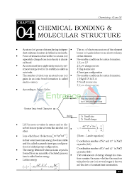 Important Chemistry Formula Chart Chemistry Formula For Class 11 Chapter Chemical Bonding