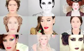 a collage of the diffe makeup styles throughout history picture courtesy you