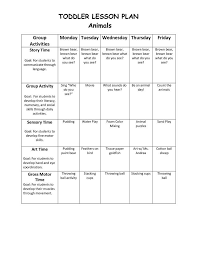 Lesson Plans Blank Template 28 Creative Lesson Plans Templates For Toddlers