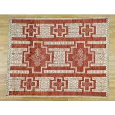 8 1 x10 pure wool hand knotted peshawar with southwest motifs rug