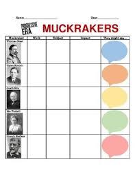 Muckrakers Graphic Organizer Progressive Era Teaching
