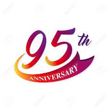 Anniversary Template Anniversary Emblems 95 Anniversary Template Design Royalty Free