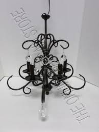 pottery barn bellora glass crystal five arm chandelier bronze finish 41 cord