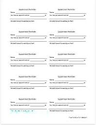 Appointment Card Template Medical Appointment Reminder Template Menopauseremedy Co