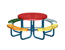 s tagged with round picnic tables commercial thermoplastic expanded metal