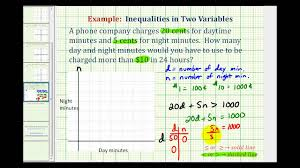 ex linear inequality in two variables problem phone cost day and night minutes