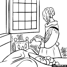 Small Picture Girl Reading A Book Coloring Coloring Coloring Pages