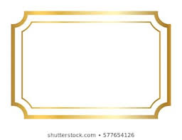 Image Vector Gold Frame Beautiful Simple Golden Design Vintage Style Decorative Border Isolated On White Shutterstock Gold Border Images Stock Photos Vectors Shutterstock
