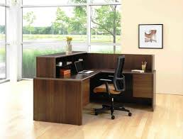 tiny unique desk home office. white themed cool home office design with elegant brown wood l shaped desk that have tiny unique r