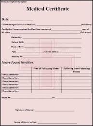 Medical Certificate Form Barca Fontanacountryinn Com