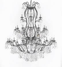 a83 3031 36 1 wrought iron chandelier chandeliers crystal with wrought iron