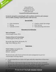 Jd Templates How To Write Perfect Cosmetology Resume Examples