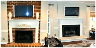 remove paint from brick fireplace removing paint from brick fireplace painted brick fireplace before after paint