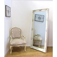 abbey large shabby chic antique style leaner wall mirror 31 x 65 cream