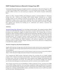 strategic analysis report to buy this report bindar trading swot analysis review on bonnett s energy corp bt