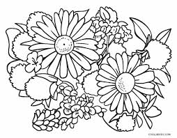 Fuzzy has fabulous flower coloring pages: Free Printable Flower Coloring Pages For Kids