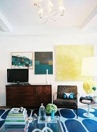 hang large art around the tv via apartment therapy