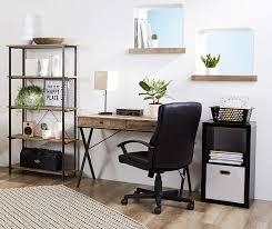 stratford rustic 2 drawer writing desk