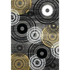 yellow gray area rug contemporary circles yellow and grey polypropylene area rug x melrose gray yellow
