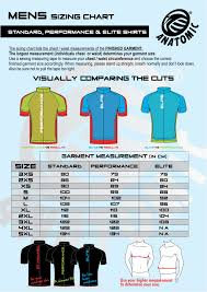 Standard Fit Size Chart Sizing Charts Custom Sportswear