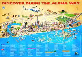 dubai map  tourist attractions city guide